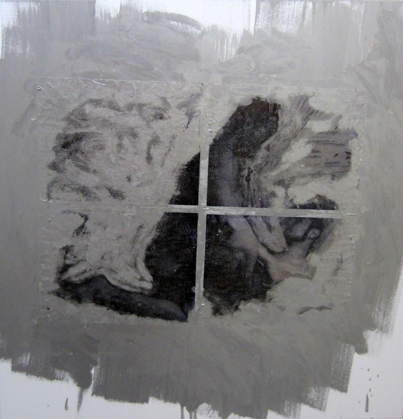 Devon Britt-Darby, Western States, No. 3, 2012. Enamel, inkjet and acrylic on canvas.