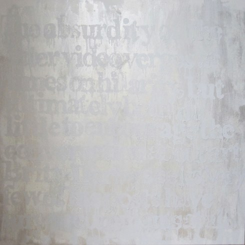 Devon Britt-Darby, Paddy Johnson, 2013 (View No. 2). Acrylic, glass microspheres and enamel on canvas.