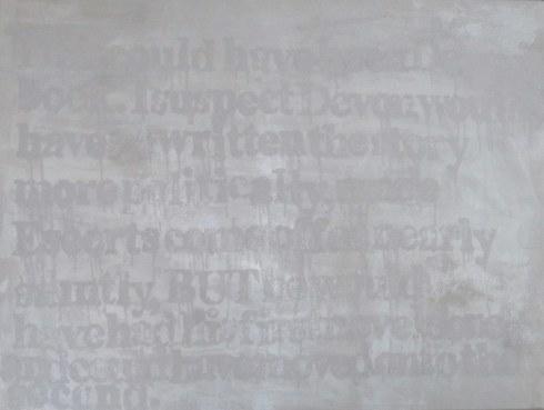 "Devon Britt-Darby, ""Rod Hagen, HooBoy's Male4Male Escort Review,"" 2013. Acrylic, glass microspheres and enamel on canvas"