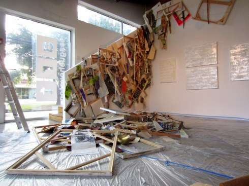 Devon Britt-Darby, 'New Bedford (Vanload of Art),' 2013. Site-specific installation at Art League Houston, dimensions variable.