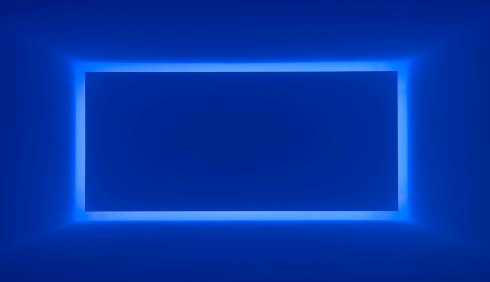 James Turrell, 'Rondo (Blue),' from the series Shallow Spaces, 1969, neon light, the Museum of Fine Arts, Houston, gift of the estate of Isabel B. Wilson in memory of Peter C. Marzio. © James Turrell