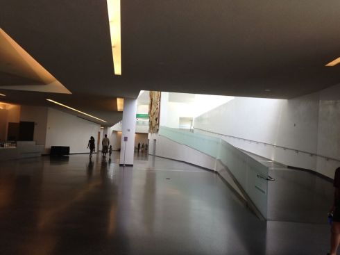 The Bloch Building's endless airport lobby. Photo: Jerry Saltz