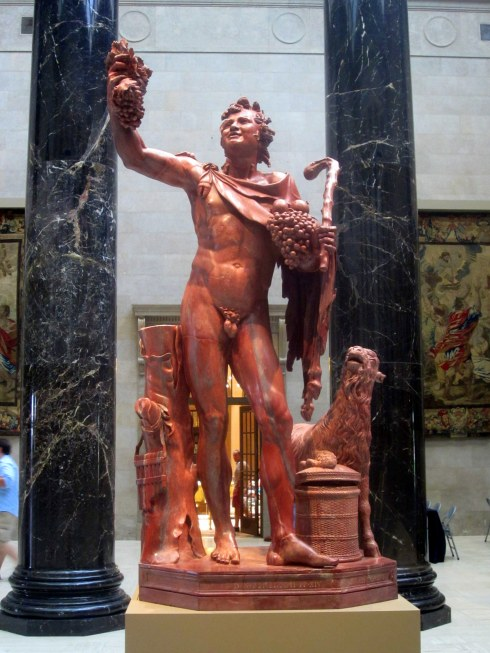 Fauno rosso (red satyr), Roman, 117-138 C.E. Red marble. On loan from Musei Capitolini, Rome