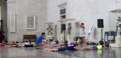 Sunday afternoon yoga at the Detroit Institute of Arts.