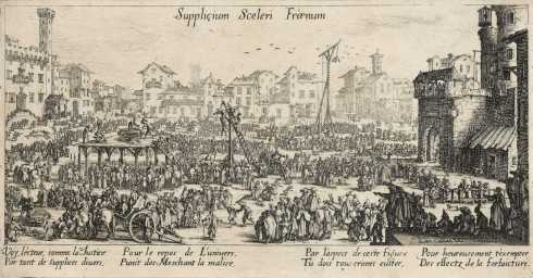 Jacques Callot, Les Supplices (The Punishments), before 1630, etching, Albert A. Feldmann Collection