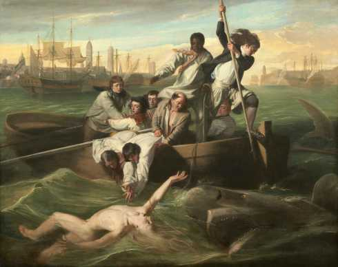 John Singleton Copley, Watson and the Shark, 1778, oil on canvas, National Gallery of Art, Washington, Ferdinand Lammot Belin Fund, 1963.6.1. Image courtesy National Gallery of Art.
